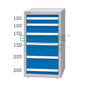 重量型工具柜,高H*宽W*深D:1000*566*607,抽屉荷重(kg):100kg,EA-10061