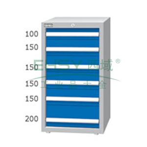 重量型工具柜,高H*宽W*深D:1000*566*607,抽屉荷重(kg):100kg,EA-10062
