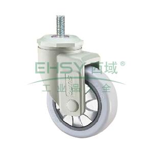向荣 灰白色23款丝杆活动4寸单轴承灰色PP轮 HP23-02-100-111