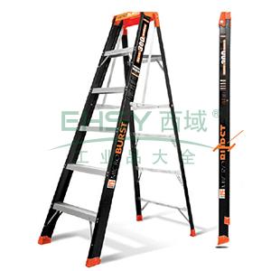 玻璃钢超级单双侧梯 5级 踏板高度1.22m 载重136kg 超簿