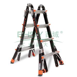 绝缘多功能梯 4节x5级 载重136kg 最大站人高4.88m 双延伸腿