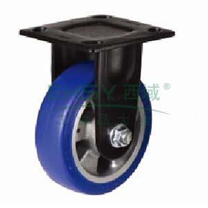 白色聚氨酯中载荷重脚轮,固定型,直径(mm):200,载重(kg):450