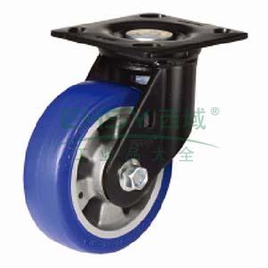 蓝色聚氨酯中载荷重脚轮,万向型,直径(mm):200,载重(kg):400