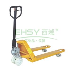 经济型手动液压搬运车,2.5T  540×1150mm 尼龙双轮/大轮 黄色