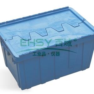 (全新料)周转箱,斜插式塑料周转箱, 600×400×315(蓝)
