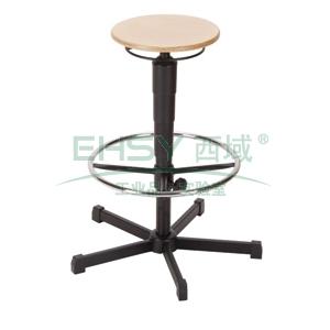 工位椅,MEY工位椅, 榉木 带踏环 高度可调535-795mm