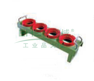 刀具座配合圆形套, 含刀具套 含挂片 适用刀具型号HSK100 可存支数4支