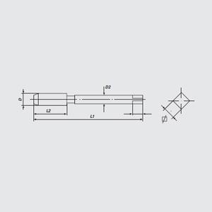 伯爵 加长细柄螺尖丝锥,M6(M6*1) L150mm