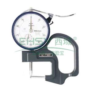 三丰 厚度表,厚度千分表 0-1mm,7327
