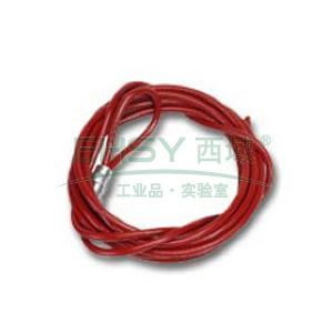 "BRADY PRINZING经济型缆锁的10""缆绳,CABLE-10FT"