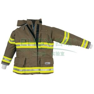 雷克兰OSX2000消防战斗服上衣,L,墨绿色