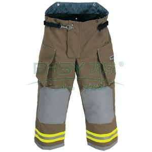 雷克兰OSX2000消防战斗服裤子,L,墨绿色
