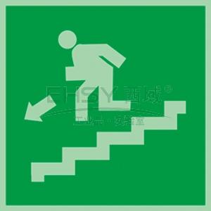 自发光不干胶标识紧急楼梯,下,150*150mm