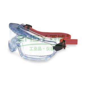 霍尼韦尔 1007506 防化护目镜,防雾镜片,大视角,橡胶头带