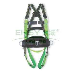 霍尼韦尔 DuraFlex双挂点全身式带腰带安全带,M/L,1002857A