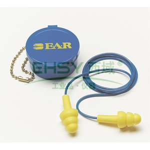 3M 340-4002 Ultrafit圣诞树型带线耳塞,配外盒,50副/盒