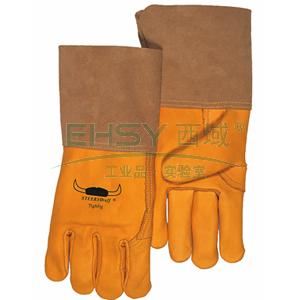 威特仕 10-2777XL 款烧焊手套,金黄色牛青皮中袖筒