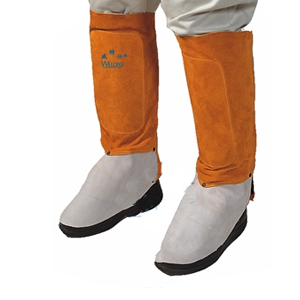 威特仕 焊接脚盖,44-2112,金黄色皮护腿脚盖 30cm长