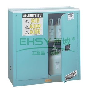 安全柜,杰斯瑞特 30加仑手动门蓝色存储柜