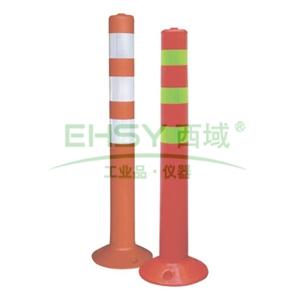 弹性警示柱,红黄,高780mm,直径80mm