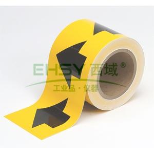 管道流向箭头带(黄),高性能自粘性材料,100mm宽×27m长