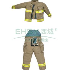 雷克兰OSX2000消防服套装,含上衣、裤子、红色连接背带、红色尼龙产品包,XL