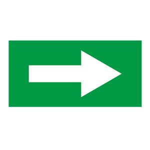 安赛瑞 流向箭头,自粘性乙烯表面覆膜,绿底白箭头,100×200mm,15426