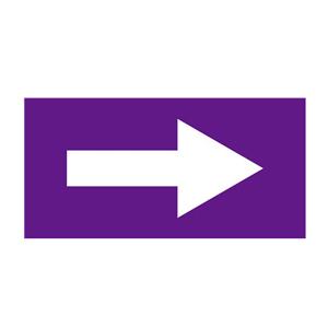 安赛瑞 流向箭头,自粘性乙烯表面覆膜,紫底白箭头,100×200mm,15430