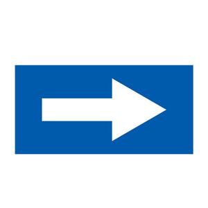 安赛瑞 流向箭头,自粘性乙烯表面覆膜,蓝底白箭头,100×200mm,15433