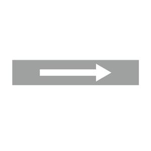 安赛瑞 流向箭头,自粘性乙烯表面覆膜,浅灰底白箭头,25×125mm,15436,10张/包
