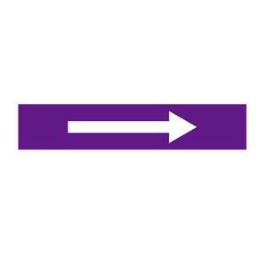 安赛瑞 流向箭头,自粘性乙烯表面覆膜,紫底白箭头,25×125mm,15438,10张/包