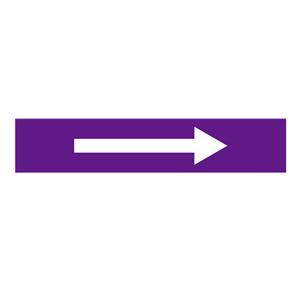 安赛瑞 流向箭头,自粘性乙烯表面覆膜,紫底白箭头,100×500mm,15454