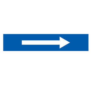 安赛瑞 流向箭头,自粘性乙烯表面覆膜,蓝底白箭头,100×500mm,15457