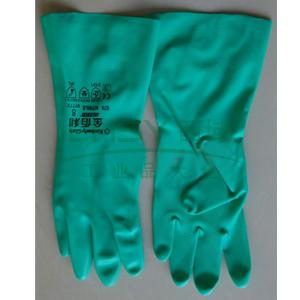 金佰利 97771-S G79 绿色丁腈防化手套,12副/袋,5袋/箱