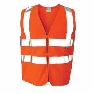 安大叔 高可视性反光背心,荧光橙,XL