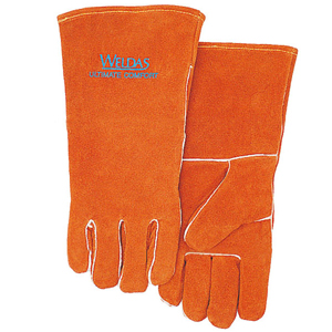 威特仕 焊接手套,10-0100-XL,常规烧焊手套 锈橙色斜拇指款