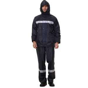 安大叔 反光雨衣,深蓝色,M码
