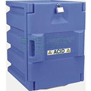 强腐蚀性安全柜,杰斯瑞特 蓝色聚乙烯存储柜-单开门,工作台式2瓶x4升