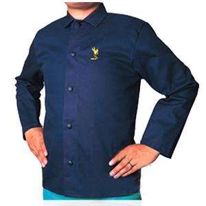 威特仕 焊接防护服,33-8830-XL,雄蜂王海军蓝上身焊服