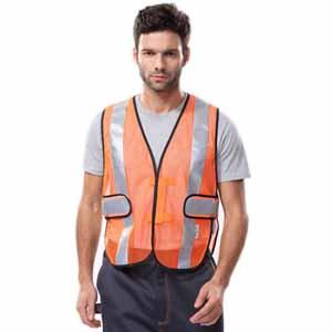 安大叔高可视性反光背心,荧光橙,XL