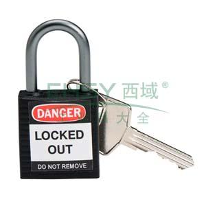 绝缘安全挂锁,铝合金锁钩,黑色