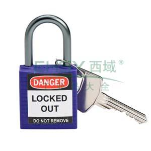 绝缘安全挂锁,铝合金锁钩,紫色