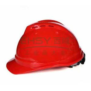 MSA 10108996 V-Gard ABS豪华型安全帽,红(轻旋风)(售完即止)