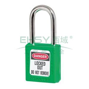 Master Lock 6mm锁钩,锁钩净高38mm,44mm高,绿色XENOY工程塑料安全锁,410MCNGRN