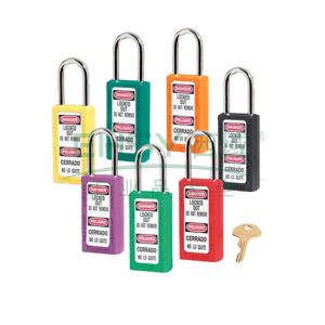 Master Lock 6mm锁钩,锁钩净高38mm,76mm高,红色XENOY工程塑料安全锁,411MCNRED