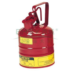 JUSTRITE 安全罐,I类安全罐,镀锌钢,4升,1加仑,10301Z