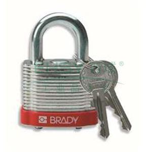 "BRADY钢锁,0.75"",1.9cm,锁钩,锁芯互异,红色,99500"