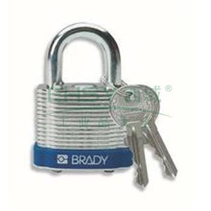 "BRADY钢锁,0.75"",1.9cm,锁钩,锁芯互异,蓝色,99504"