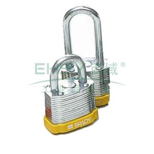 "BRADY钢锁,0.75"",1.9cm,锁钩,锁芯互异,黄色,99512"