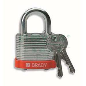 """BRADY钢锁,0.75"""",1.9cm,锁钩,锁芯互异,橙色,99516"""